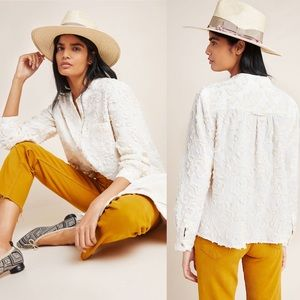 NWT Anthropologie Pilcro Embroidered Trapeze Top